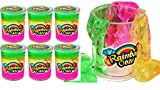 JA-RU Rainbow Putty Slime Kit Neon Glitter Colors