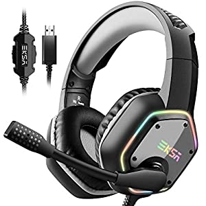 Best Epic Trends 515zVbJRDVL._SS300_ EKSA E1000 USB Gaming Headset for PC - Computer Headphones with Microphone/Mic Noise Cancelling, 7.1 Surround Sound…
