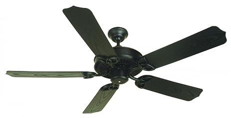 Craftmade OPXL52FB 52 Inch Outdoor Patio Ceiling Fan, Flat Black
