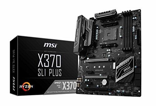 MSI ATX DDR4 AM4 AMD X370 Chipset SATA III (64bit/s) Motherboard (X370 SLI PLUS)