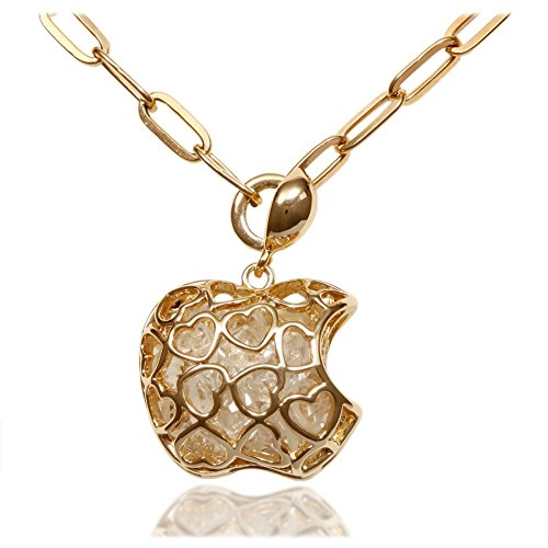 Women's 18k Gold Plated Necklace with Apple Shaped Pendant Filled With AAA Quality Cubic Zirconia; - Turquoise Coach Glasses