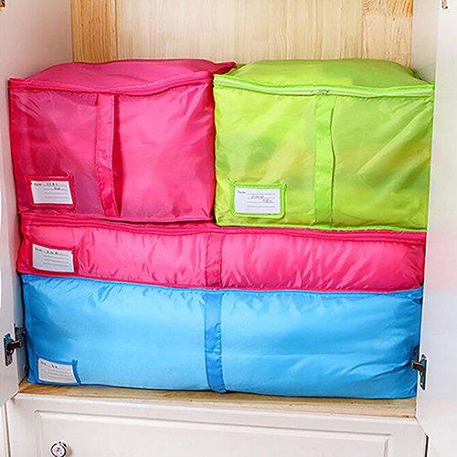 yanbirdfx Clothes Bedclothing Duvet Pillows Zipper Storage Bag Box Hand Handles Luggage Rose-m by yanbirdfx (Image #3)