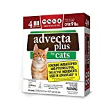 Advecta Plus Flea and Tick Squeeze on for Large Cats, 4 Month Supply