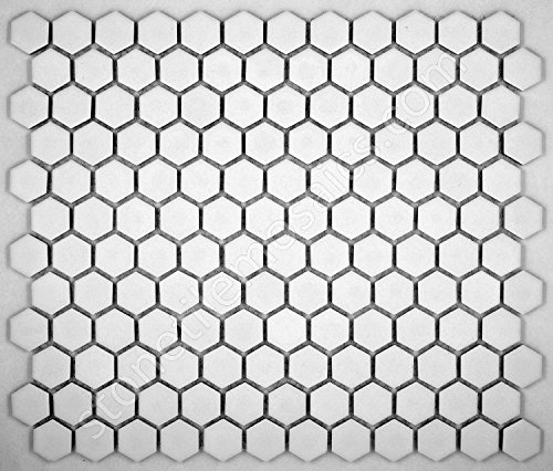 Vogue Hexagon White Porcelain Mosaic Tile Matte Look Designed in Italy (12x12)