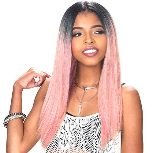 Sis Slay Natural Baby Hair Lace Front Wig - ANKA (FS1B/30) (Hollywood Sis Synthetic Lace Front Wig Natural)