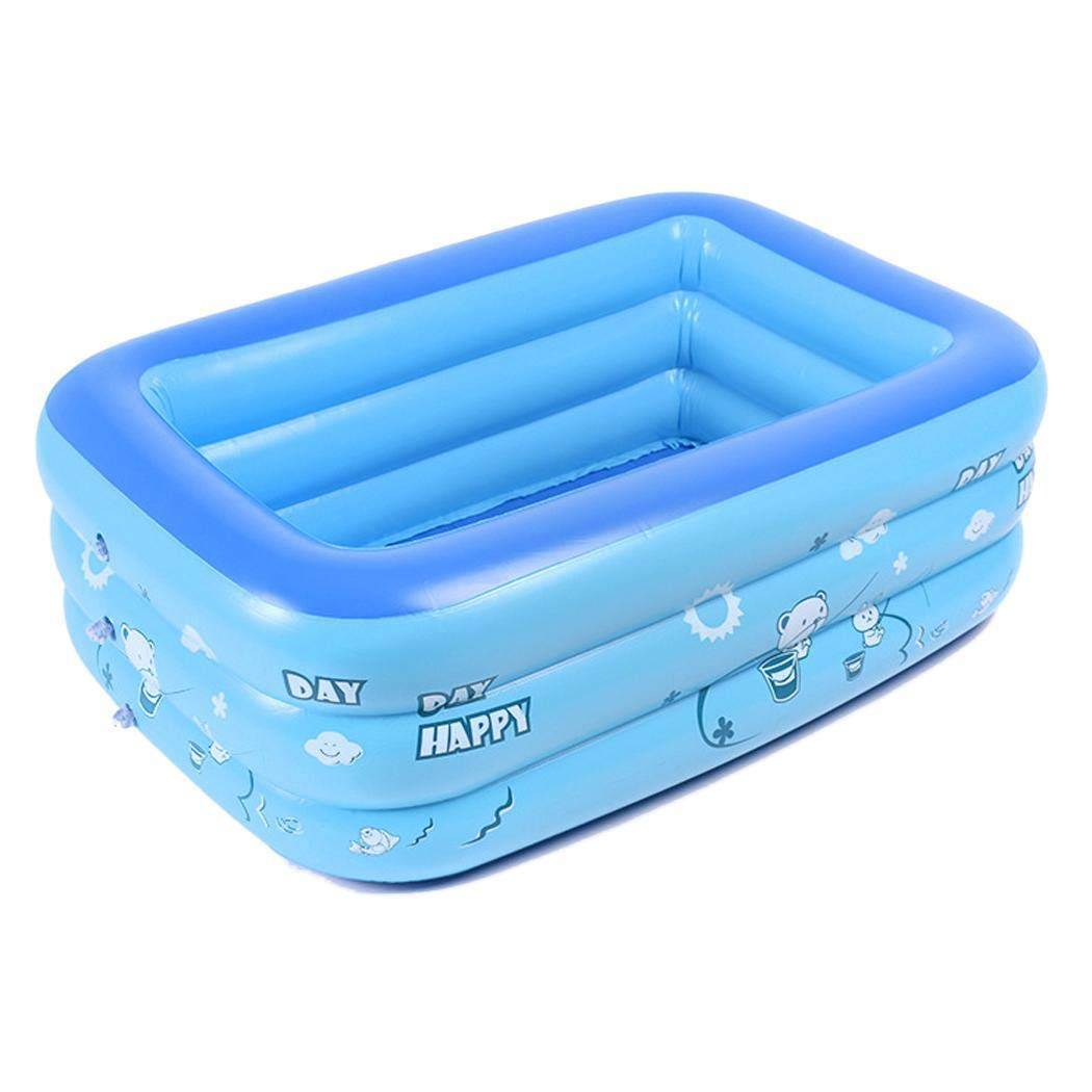 lantusi 2 Layer Inflatable Swimming Pool Outdoor Children Summer Play Bathtub Kiddie Pools