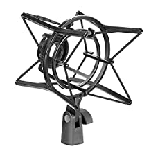 Neewer Microphone Spider Shock Mount Shock-proof Bracket Anti Vibration Suspension High Isolation, Durable Metal Construction for Radio Recording, Podcasting and Broadcasting (Black)
