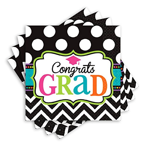 Dream Big Luncheon Napkins Graduation Party Disposable Tableware, Paper, 6.5'' x 6.5'', Pack of 125.