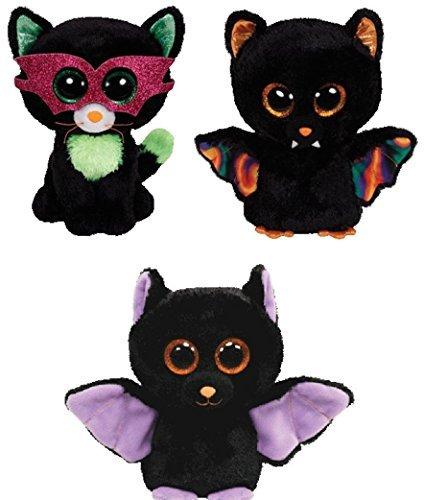 Ty Swoops, Jinxy & Scarem Halloween Beanie Boos Set of 3 Plush Toys (Ty Beanie Boo Jinxy)