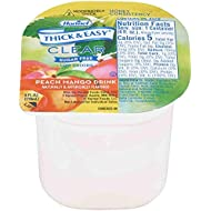 Hormel Healthlabs Thick and Easy Thickened Honey Consistency Clear Peach Mango Drink, 4 Ounce -- 24 per case.