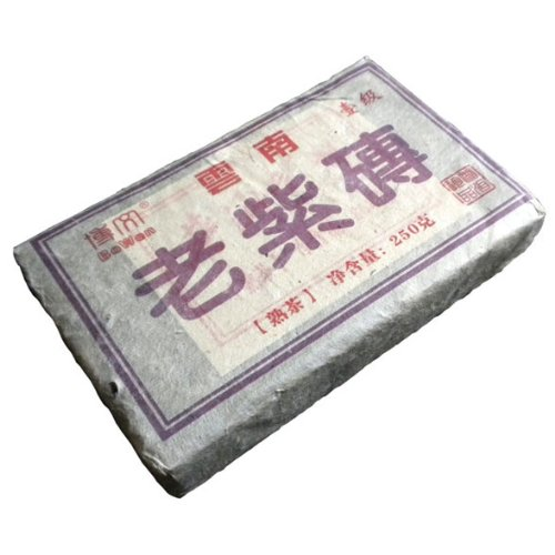 2000 Old Purple Brick Pu'er Pu-erh Tea Ripe Tea Ten-years-old Purple Brick Tea 250g