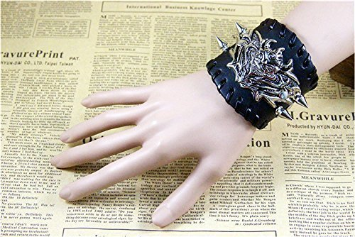 Rock Star Monster Spike Leather Braided Rope Bracelet Strap Punk Personalized Jewelry