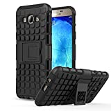 Galaxy A8 Case - MoKo Heavy Duty Rugged Dual Layer Armor with Kickstand Protective Case for Samsung Galaxy A8 5.7 Inch 2015 Smartphone, BLACK (Not for Galaxy A Previous Generations)