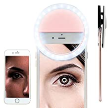 BLU Vivo Selfie Selfie Portable Flash Round Circle LED Ring Fill Light Camera Photography For IPhone Android Phone [ Pink ] 1880999