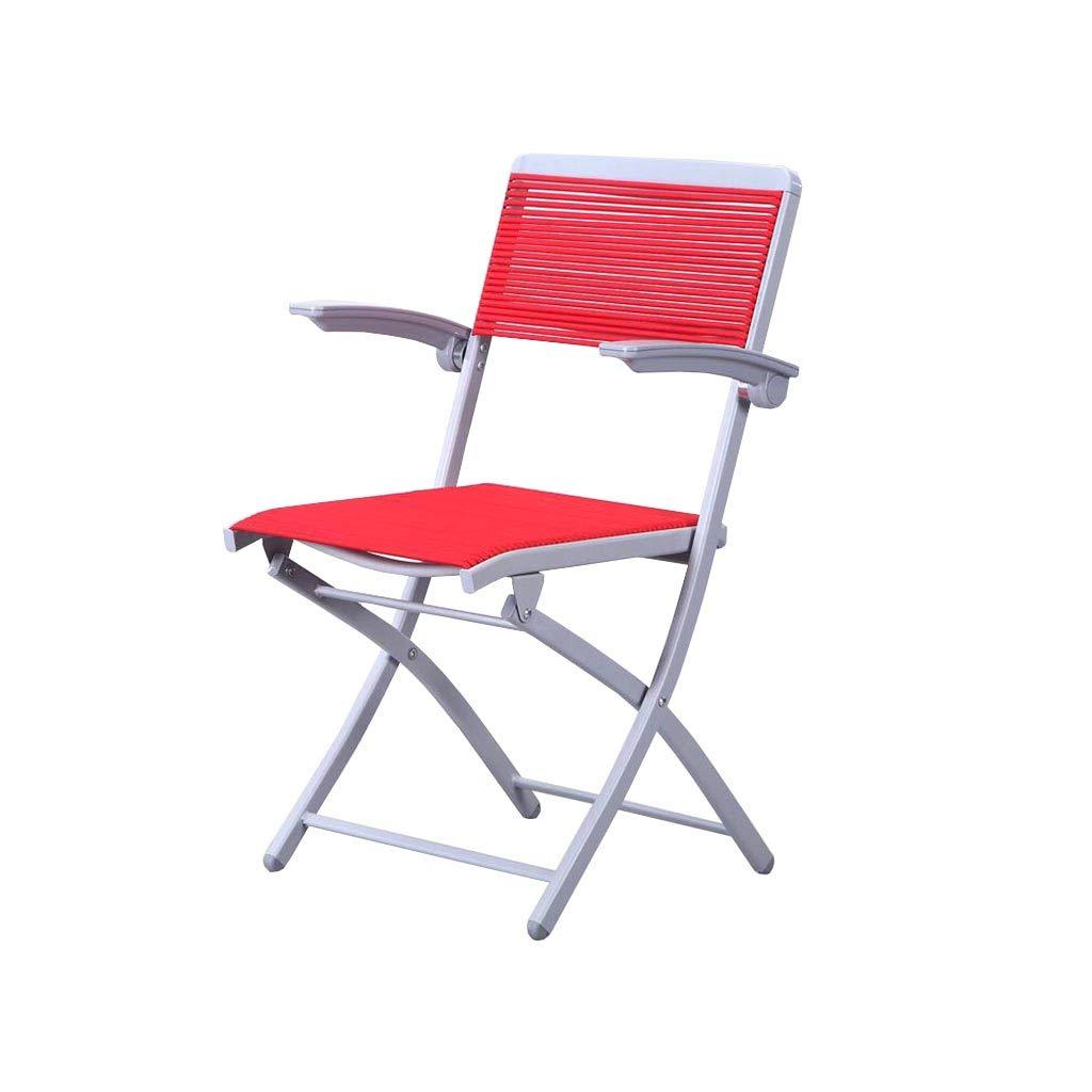 QZ HOME Stühle, Klappstuhl Sonnenliege Computer Stuhl Treffen Schach Einfach Büro Student (Farbe : ROT)