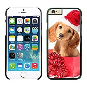 Personalized Hard Shell Christmas Dog In Gift Box Iphone 6 Cover Case For Iphone 6 4.7 Inch