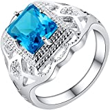 Sumanee Huge Blue Topaz Gemstone Jewelry 925 Silver Ring Men Women Wedding Anniversary (6)