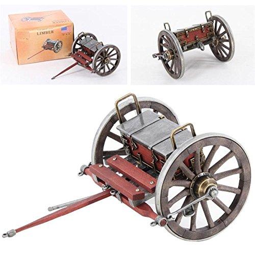 Beautiful Civil War Desk Replica Limber Chest, 1/14 Detailed Scale Model Civil War Cannon Replica