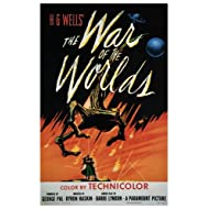 The war of the worlds MOVIE POSTER H. G. Wells 1953 24X36 rare hot NEW (reproduction, not an original)