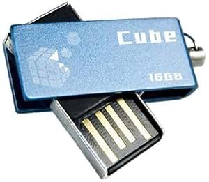 Goodram 16GB USB 2.0 Cube 16GB USB 2.0 Azul unidad flash USB - Memoria USB (USB 2.0, Type-A, 0 - 50 °C, -20 - 60 °C, Girar, Azul)