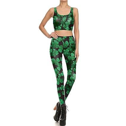 Vest Qqwe Vêtements Sport Et Crop Trèfle Top Pour De Leggings Femmes 8P0OnkXw