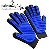 Grooming Gloves- All in One Gentle Deshedding/Bathing/Massage Mitt-Great for Removing pet Hair/Fur on Dogs, Cats and Horses (Upgraded Version)