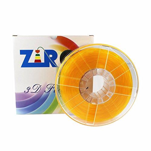 ZIRO 3D Printer Filament PLA 1.75 1KG(2.2lbs), Dimensional Accuracy +/- 0.05mm, Translucent Orange by ZIRO (Image #2)