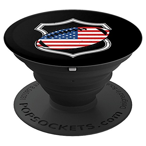 Football July 4th American Flag Team Coach Gift - PopSockets Grip and Stand for Phones and - Offense Football Zone