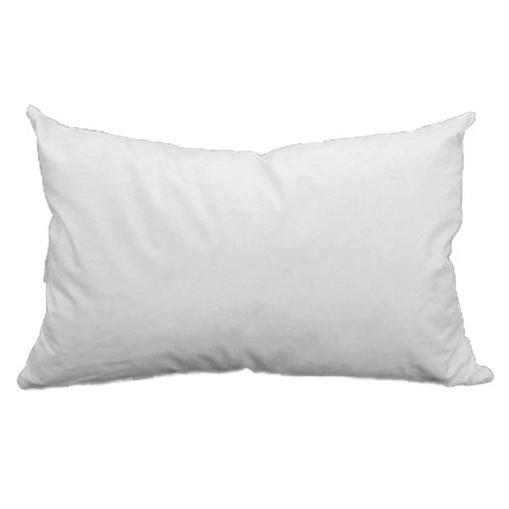 12'' x 20'' Pillow Form White Cotton/Polyester