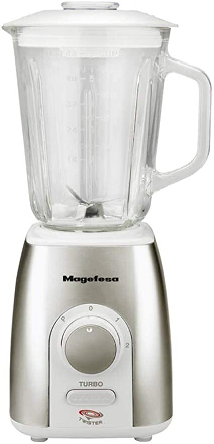 Magefesa 02BE4244000 Batidora vaso Twister 600 W, 1500 milliliters, Aluminio, Acero inoxidable, 2 Velocidades, Multicolor: Amazon.es: Hogar