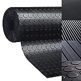 casa pura Rubber Floor Mat – Anti Slip Rubber Sheet | Suitable as Garage Floor Mat, Horse Stall Mat or Workbench Mat | Many Sizes to Choose from | Circular Stud | 1/8'' Thick - 48'' x 8'