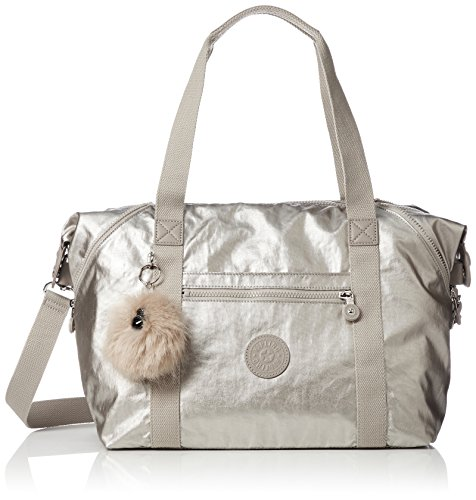 Kipling Women's Art Cross-Body Bag Silver (Silver Beige)