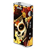 Skin Decal Vinyl Wrap for Eleaf iStick 100W Vape Mod Box / Skull Girl Dia de Los Muertos Paint