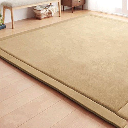 japanese thicken coral velvet carpet children crawling mat