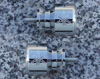 i5® Chrome Swingarm Spools Sliders for Yamaha YZF R6 R6S R1 1998-2016.