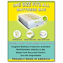1 Size Fits All Mattresses Protection: Fits Cal King, King, Queen, Double, Full, Twin and Twin XL. Toughest Bed Protective Covering Made in America.