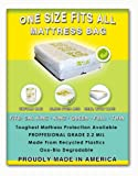 1 Size Fits All Mattresses Protection: Fits Cal King, King, Queen, Full and Twin. Toughest Bed Protective Covering Made in America. Eco Friendly. Made From Recycled Plastics