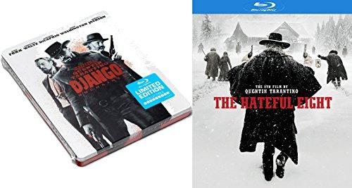 Quentin Tarantino Western Set The Hateful Eight & Django Unchained Steelbook Blu-ray 2-Movie Bundle