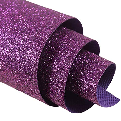 WYQ Personalized Wedding Aisle Runner, Glitter Runner Rugs for Weddings, Parties, Galas, Non-Woven Wedding Runners (Color : Purple, Size : 1.38m×5m) ()