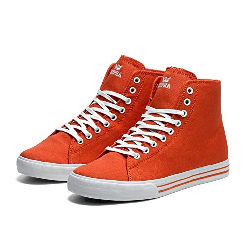 Supra Thunder High Red Canvas Rot