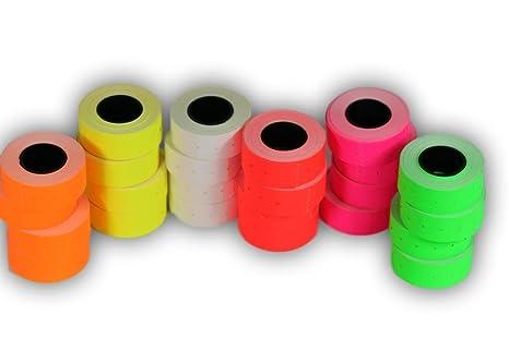 Rotoli Di Carta Colorata : Mix rotoli mm etichette di carta colorata sticker
