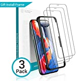AINOPE [3 Packs] Screen Protector Compatible with iPhone 11 Pro, iPhone XS/X Screen Protector,[Install Frame][6X Stronger]iPhone 11 Pro/Xs/X Tempered Glass Clear,Case Friendly,5.8 in(2019&2018)