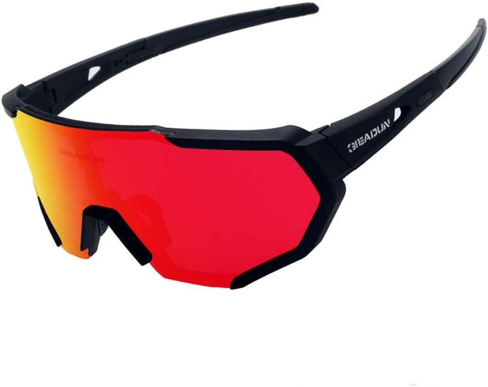 GIEADUN Sports Sunglasses Protection Cycling Glasses Polarized UV400 for Cycling, Baseball,Fishing, Ski Running,Golf