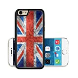 Liili Premium Apple iPhone 6 iPhone 6S Aluminum Backplate Bumper Snap Case flag of United Kingdom or British banner on vintage metal texture 29483737