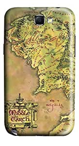 Middle Earth Map Polycarbonate Case Cover for Samsung Galaxy Note 2 / Note II / N7100