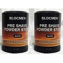 Save! TWO Pre-Shave Powder Stick Derma Bloc by Blocmen