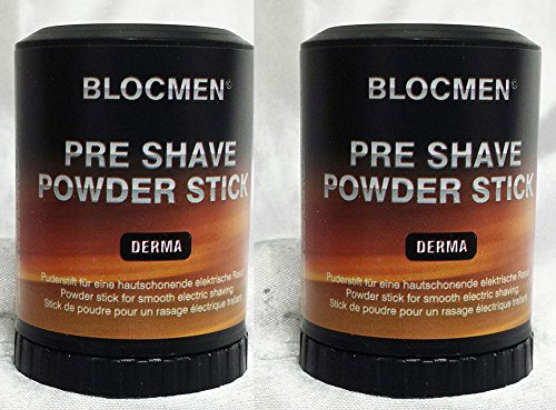 Save! TWO Pre-Shave Powder Stick Derma Bloc by ()