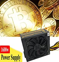 1600W Modular Power Supply Bitcoin Mininig Machine For Ethereum Coin 170/240V Switch High Efficiency Low Noise