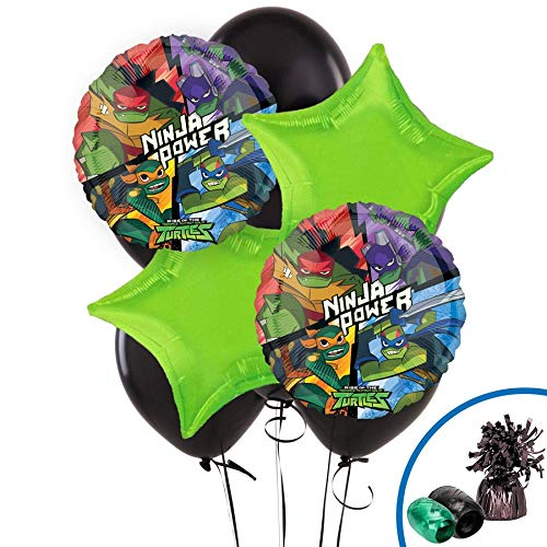 BirthdayExpress Rise of The Teenage Mutant Ninja Turtles Party Supplies Balloon Bouquet]()