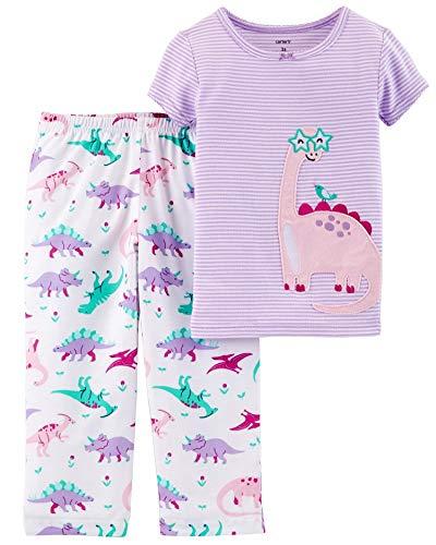 (Carter's Baby Girls' 2 Piece Dinosaur Cotton & Poly PJs, 18 Months )